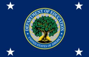 Flag of the United States Secretary of Education (Photo: Fry1989, via Wikimedia Commons).