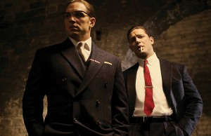 Legend: Tom Hardy as the Kray twins - Photo: Greg Williams/Studiocanal/PA Wire
