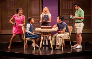 Akeelah and the Bee: Zaria Graham, Johannah Easley, Ana Christine Evans, Sean Phinney and Leo James- Photo: Dan Norman