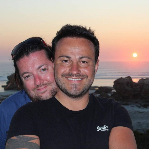 David Bulmer-Rizzi (L) and Marco Bulmer-Rizzi, shortly before David's death