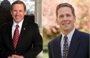 Sen. Mark Kirk (Photo: U.S. Senate, via Wikimedia Commons) and Rep. Bob Dold (Photo: Bob Dold, via Wikimedia Commons).