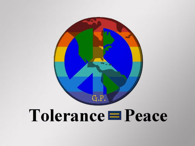Tolerance Equals Peace Poster