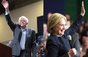 Sanders and Clinton - Photos: Gage Skidmore