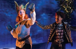 Holly Twyford as Bottom and Monique Robinson as Snout: Midsummer Night's Dream - Photo: Teresa Wood