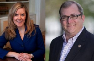 Sen. Jennifer Wexton (D-Leesburg) and Sen. Adam Ebbin (D-Alexandria). (Photos via Facebook)