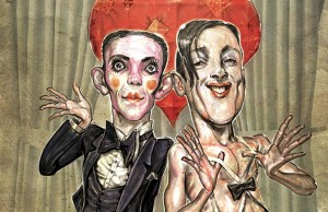 Joel Grey and Alan Cumming - Illustration: Scott G. Brooks