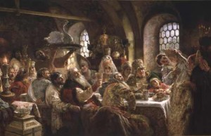 Boyar Wedding Feast from Konstantin Makovsky- The Tsar's Painter - Courtesy Hillwood Estate, Museum & Gardens