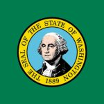 Washington State official flag (Photo: WA Secretary of State's office, via Wikimedia).