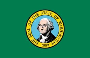 Washington State official flag (Photo: WA Secretary of State's office, via Wikimedia).