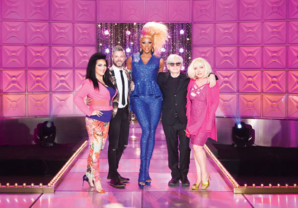 Michelle Visage, Lucian Piane, RuPual, Chris Stein and Debbie Harry - Photo: Courtesy of Logo