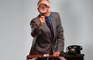 "Alan Wade as Inspector Hubbard in ""Dial 'M' for Murder"" - Photo: Chris Mueller"
