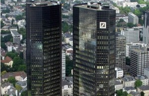 Headquarters of Deutsche Bank AG in Frankfurt am Main / Germany (Photo: 	Raimond Spekking, via Wikimedia).