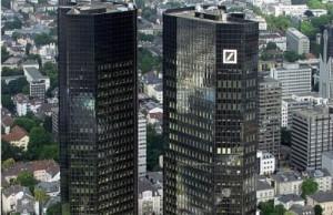 Headquarters of Deutsche Bank AG in Frankfurt am Main / Germany (Photo: Raimond Spekking, via Wikimedia).