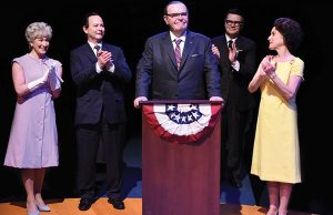 Jack Willis as President Lyndon Baines Johnson and the cast of All the Way - Photo: Stan Barouh