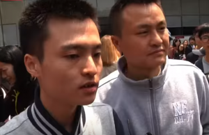 Sun Wenlin and Hu Mingliang, Credit: AP / YouTube