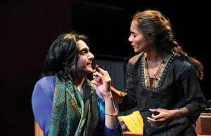 "Shravan Amin as Indira and Lynette Rathnam as Nirmala in ""When January Feels Like Summer"" -- Photo: Stan Barouh"