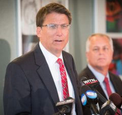 North Carolina Gov. Pat McCrory - Photo: NCDOTcommunications, via Wikimedia.
