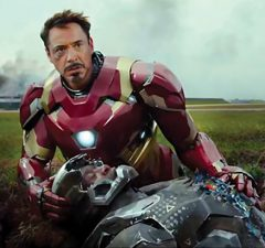 "Robert Downey, Jr. and Don Cheadle in ""Captain America: Civil War"""