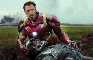 "Robert Downey, Jr. and Don Cheadle in ""Captain America: Civil War"""