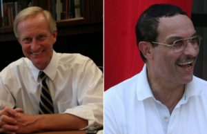Councilmember Jack Evans, D-Ward 2 (Photo via Facebook) and Ward 7 candidate Vincent Gray (, via Wikimedia) .