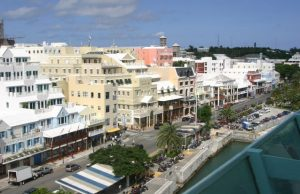 Front Street in Hamilton, Bermuda (Photo: Mdfii, via Wikimedia).