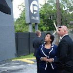 Loretta Lynch at Pulse nightclub in Orlando, Florida