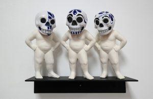 Talavera Skulls 8 x 4 x 3 (each)