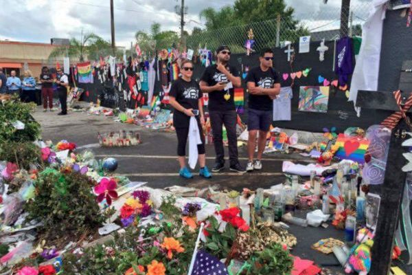 Pulse Orlando memorial, Photo: Pulse Orlando's Facebook page.