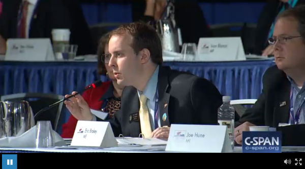 Members of the RNC's Platform Committee (Photo: C-SPAN).