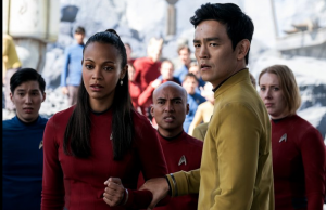 Uhura (Zoe Saldana) and Sulu (John Cho) in Star Trek Beyond - Photo: Paramount Pictures