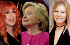 Cher, Hillary Clinton and Barbra Streisand, Photos (L-R): Ian Smith (Flickr), Neverbutterfly (Flickr), What Matters Most (Album)