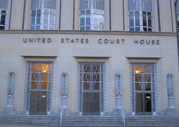 Eldon B. Mahon Federal Courthouse in Fort Worth, Texas - Photo: Turn685, via Wikimedia.
