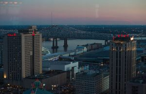 New Orleans skyline as seen from Canal Street - Photo: Lara Farhadi, via Wikimedia.