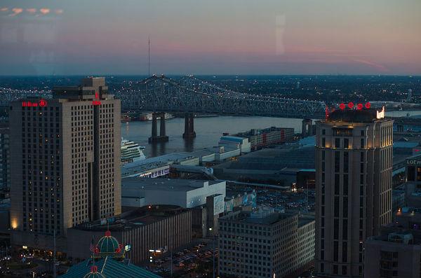 New Orleans skyline as seen from Canal Street - Photo: Lara Farhadi, via Wikimedia.