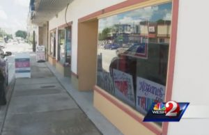 A shot of the Trump/Republican campaign office headquarters. - Photo: WESH.