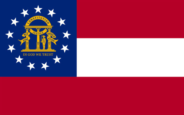 Georgia state flag - Photo: Zscout730, via Wikimedia.