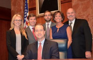 Texas Supreme Court Justice John Devine and his staff - Photo: Facebook.