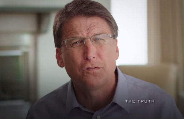 Pat McCrory - Photo: Pat McCrory for Governor, via YouTube.