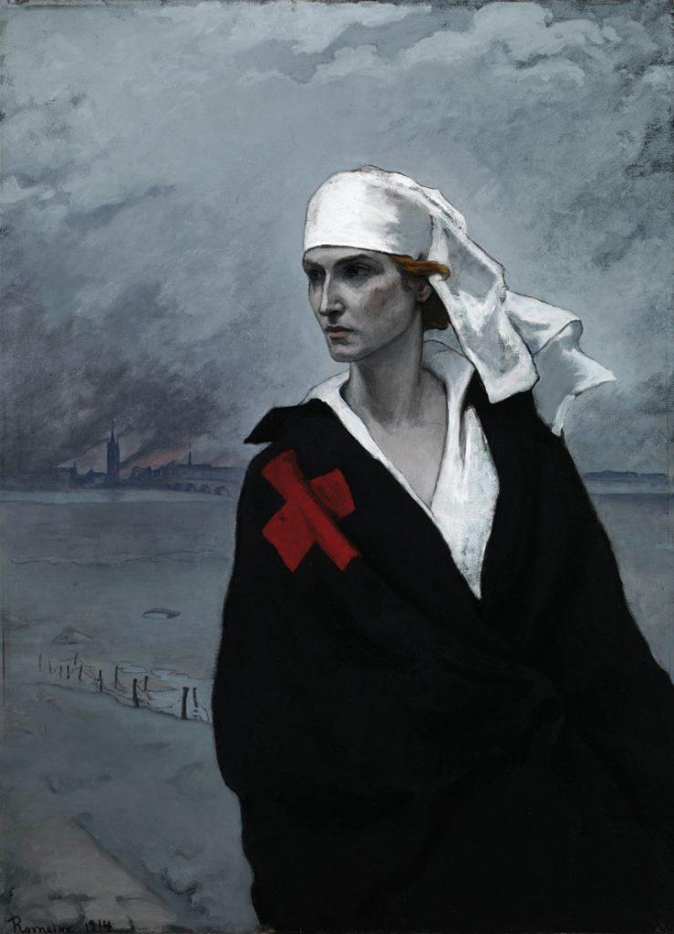 Romaine Brooks, La France Croisée, 1914, oil on canvas. Smithsonian American Art Museum