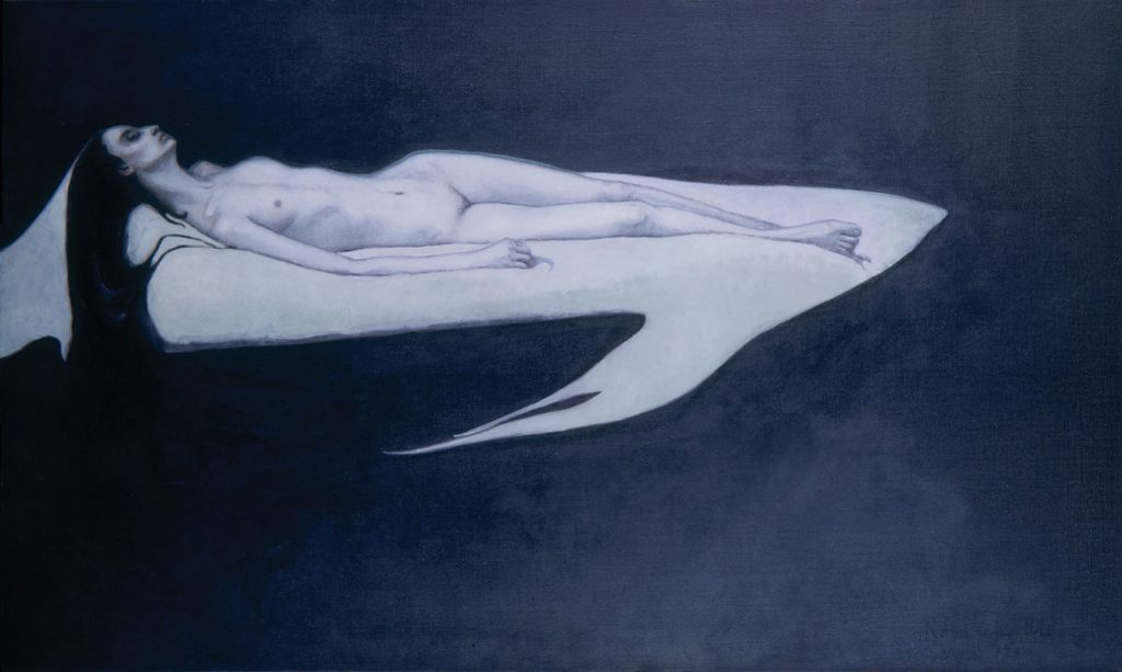 Romaine Brooks, Le Trajet, about 1911, oil on canvas. Smithsonian American Art Museum