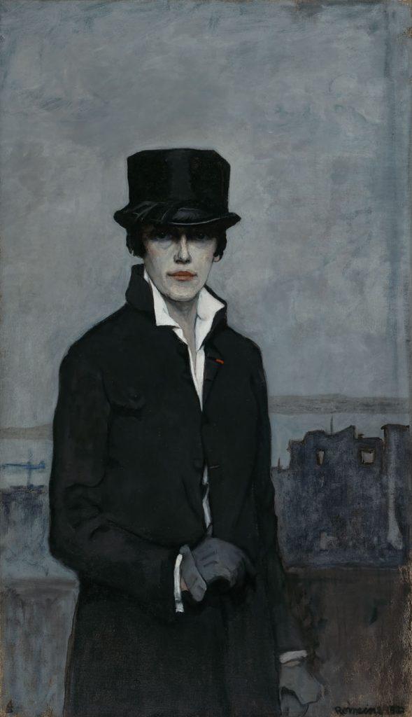 Romaine Brooks, Self-Portrait, 1923, oil on canvas. Smithsonian American Art Museum