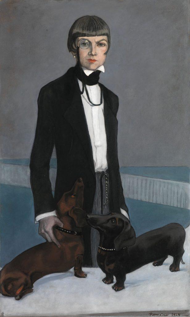 Romaine Brooks, Una, Lady Troubridge, 1924, oil on canvas. Smithsonian American Art Museum