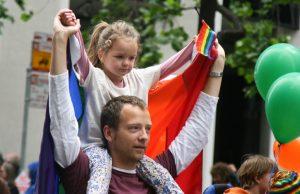 Parent and Child Pride Parade