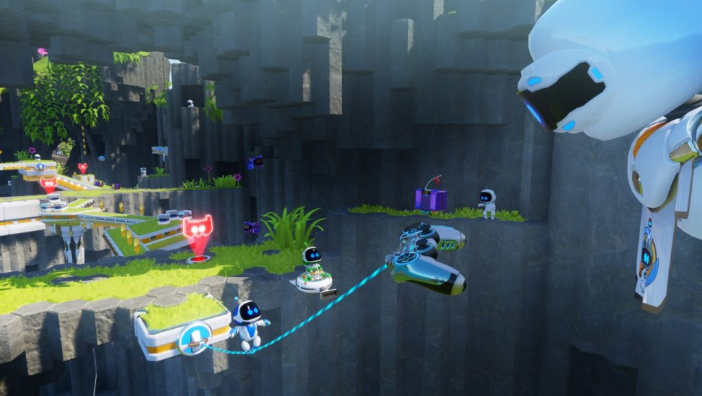 Robot Rescue is a wonderful example of VR making a platformer more interactive, Photo: Sony