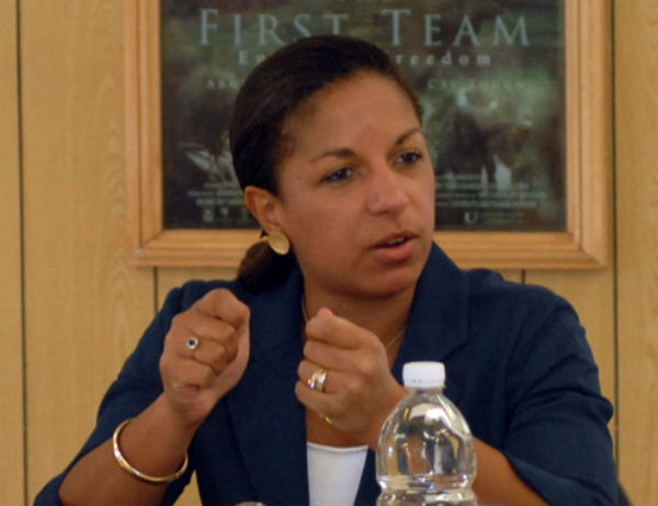 Former UN Ambassador and National Security Advisor Susan Rice - Photo: Sgt. 1st Class Joel Quebec, via Wikimedia.