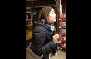 Jennifer Boyle mid-rant at Michaels - Photo: Jessie Grady, via YouTube.