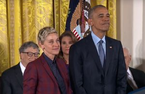 Ellen DeGeneres receives the Presidential Medal of Freedom from President Barack Obama, Photo: ABC News / YouTube