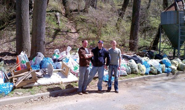 Annual Rock Creek extreme clean up -- Photo courtesy Adam Dahl