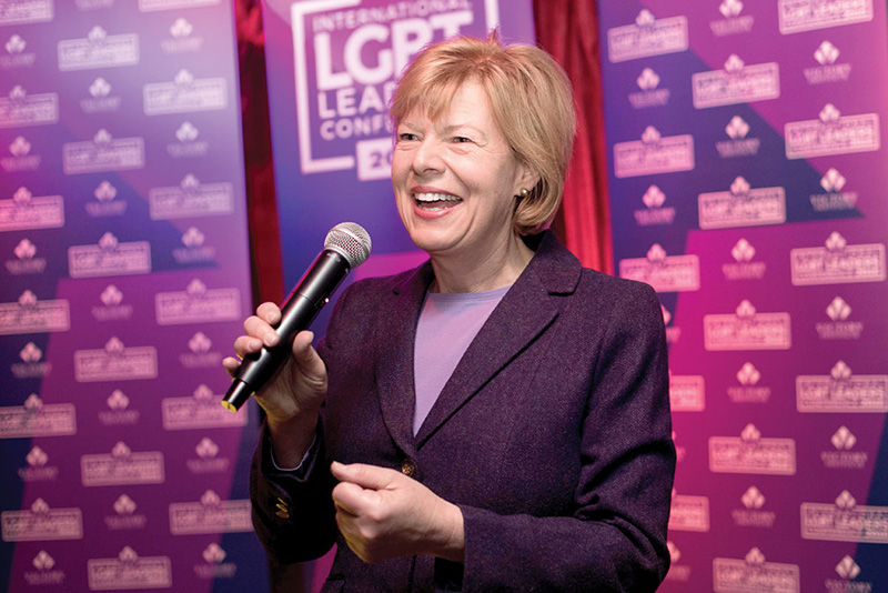 Tammy Baldwin -- Photo courtesy The Victory Fund International LGBT Leaders Conference
