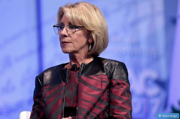 No class: Students shout down Betsy DeVos' graduation speech
